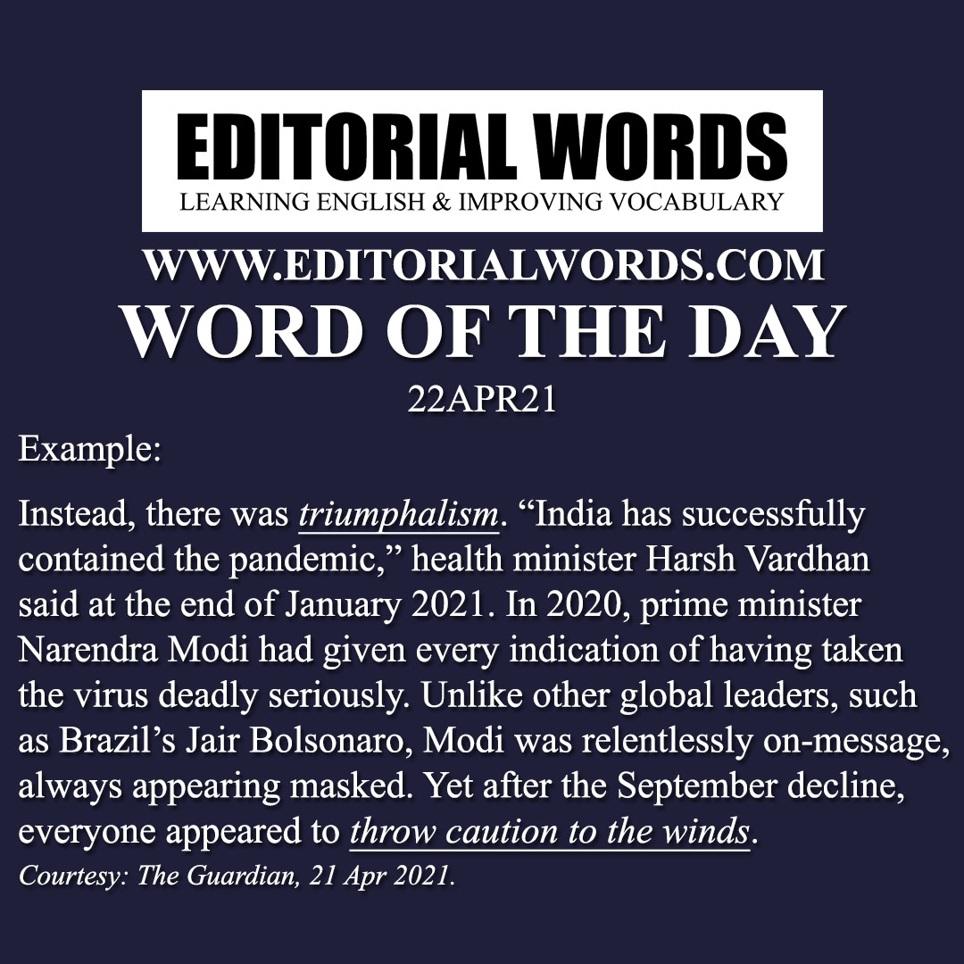 Word of the Day (triumphalism)-22APR21