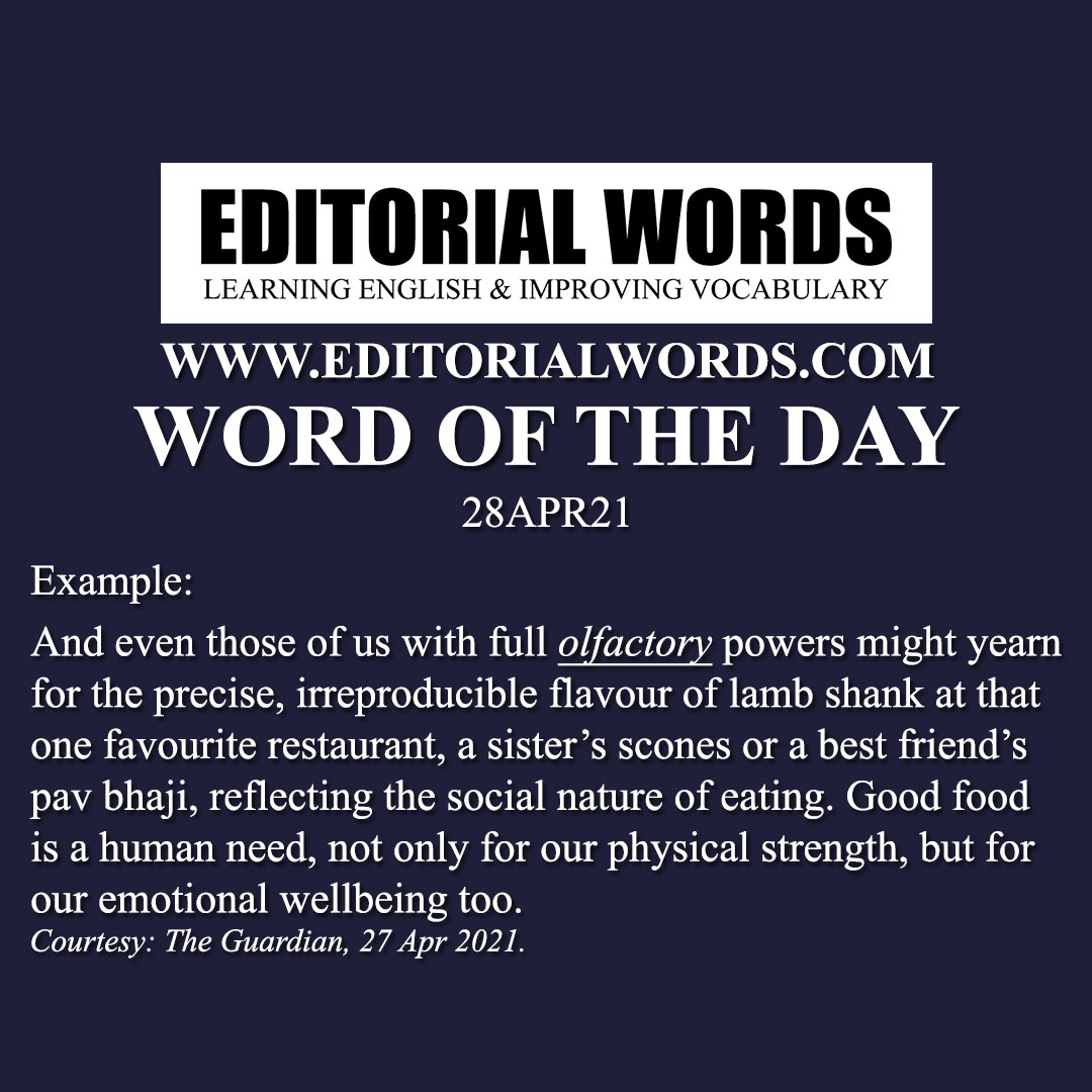 Word of the Day (olfactory)-28APR21