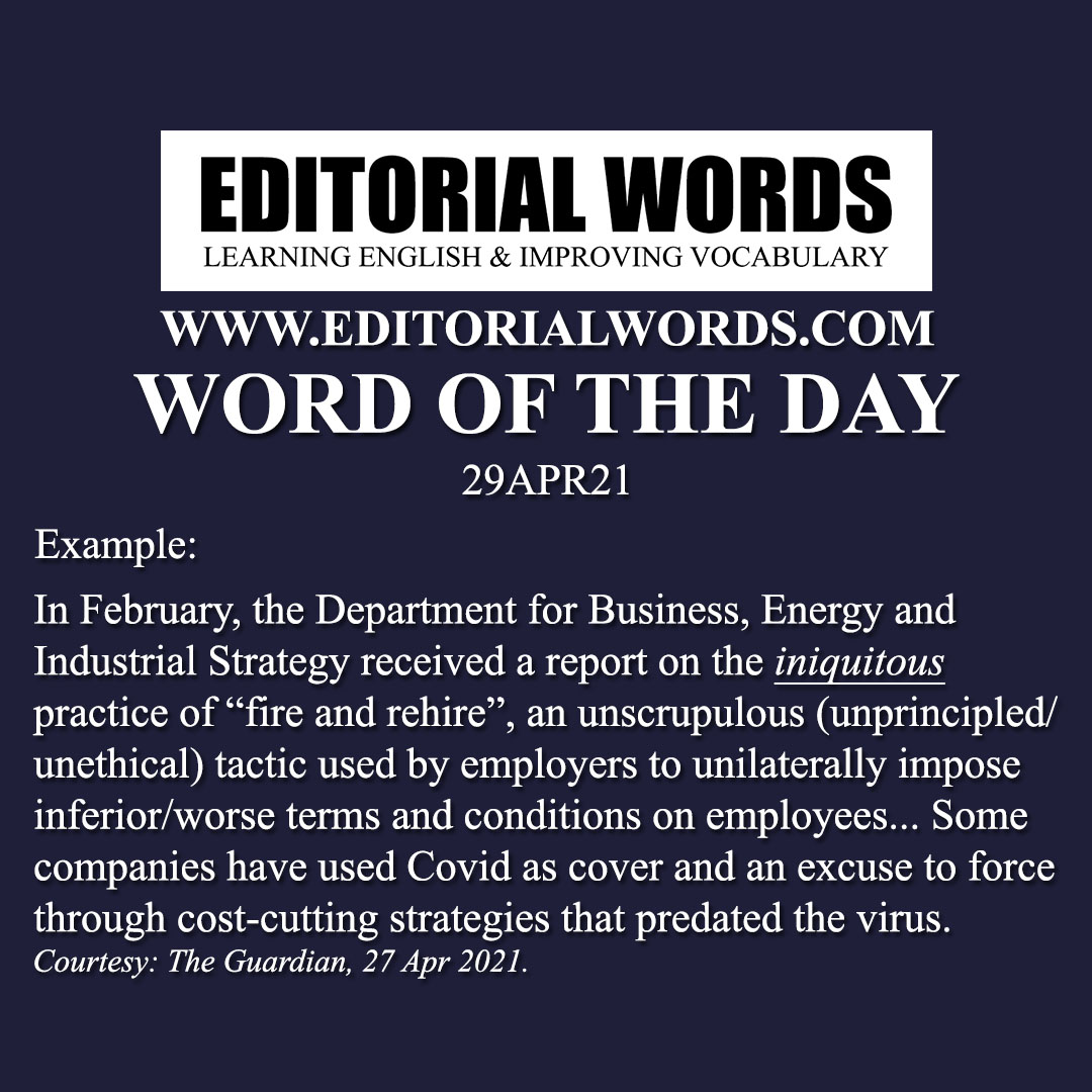 Word of the Day (iniquitous)-29APR21