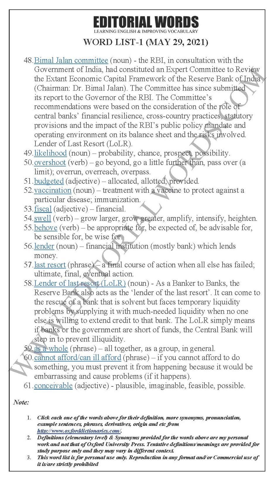The Hindu Editorial (Timely windfall) – May 29, 2021