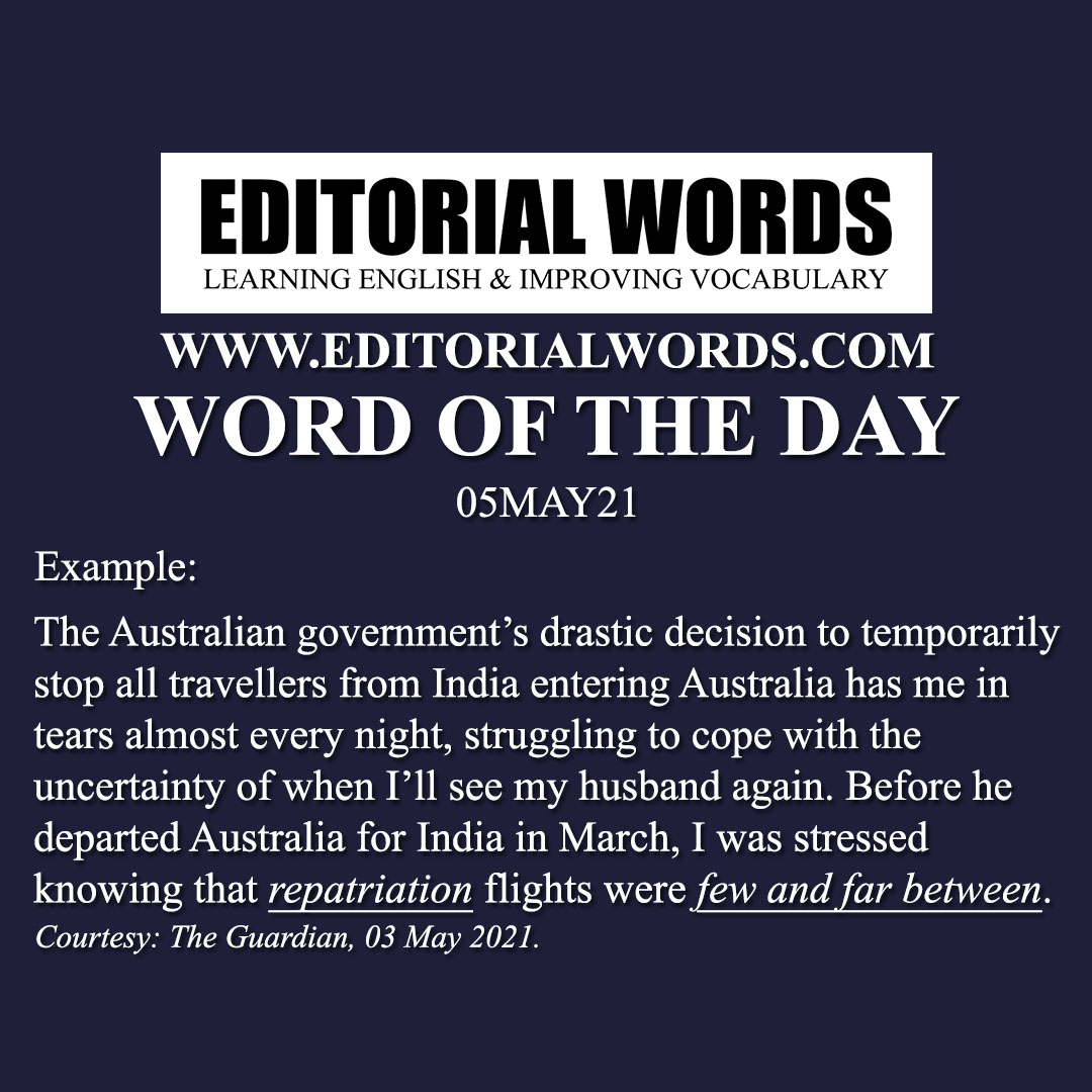 Word of the Day (repatriation)-05MAY21