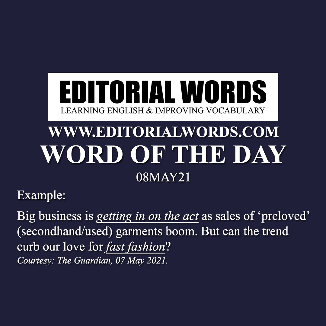 Word of the Day (fast fashion)-08MAY21
