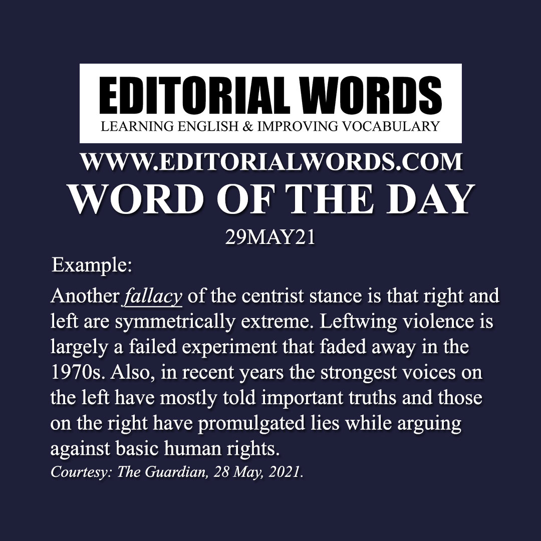 Word of the Day (fallacy)-29MAY21