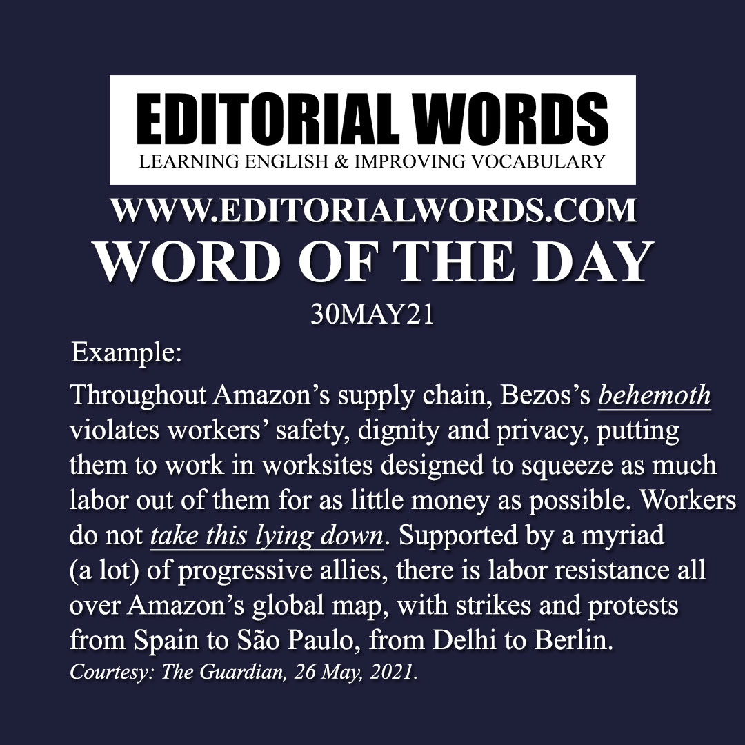 Word of the Day (behemoth)-30MAY21