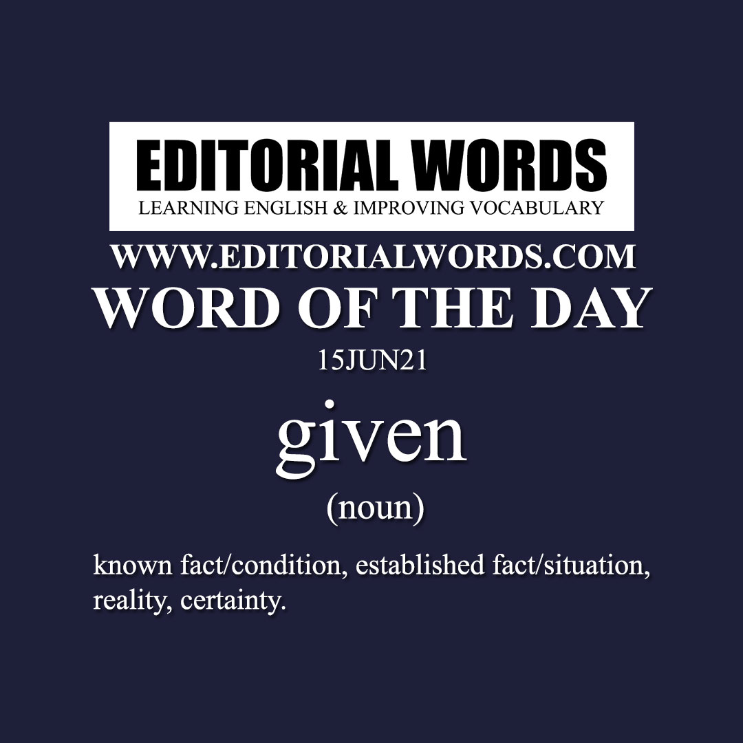 Word of the Day (given)-15JUN21