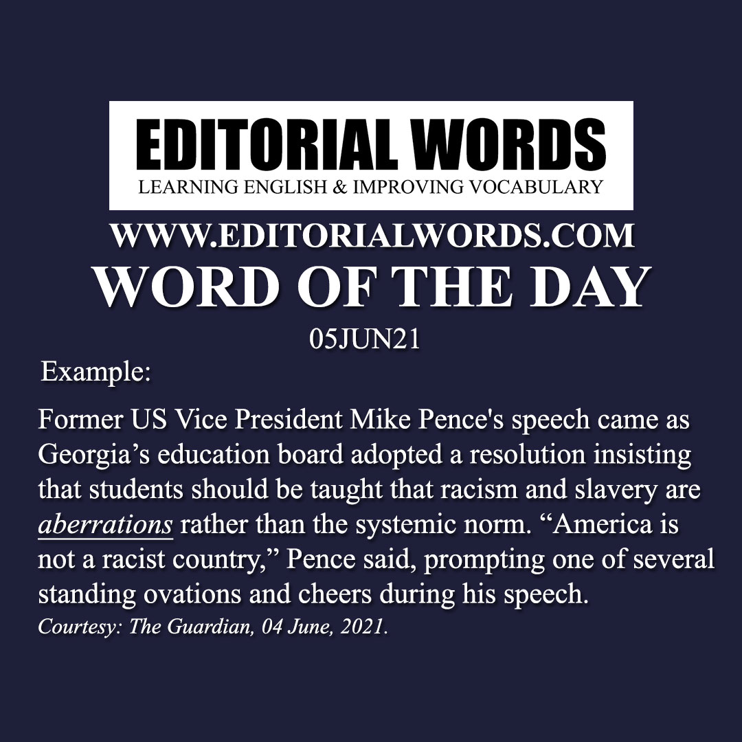 Word of the Day (aberration)-05JUN21