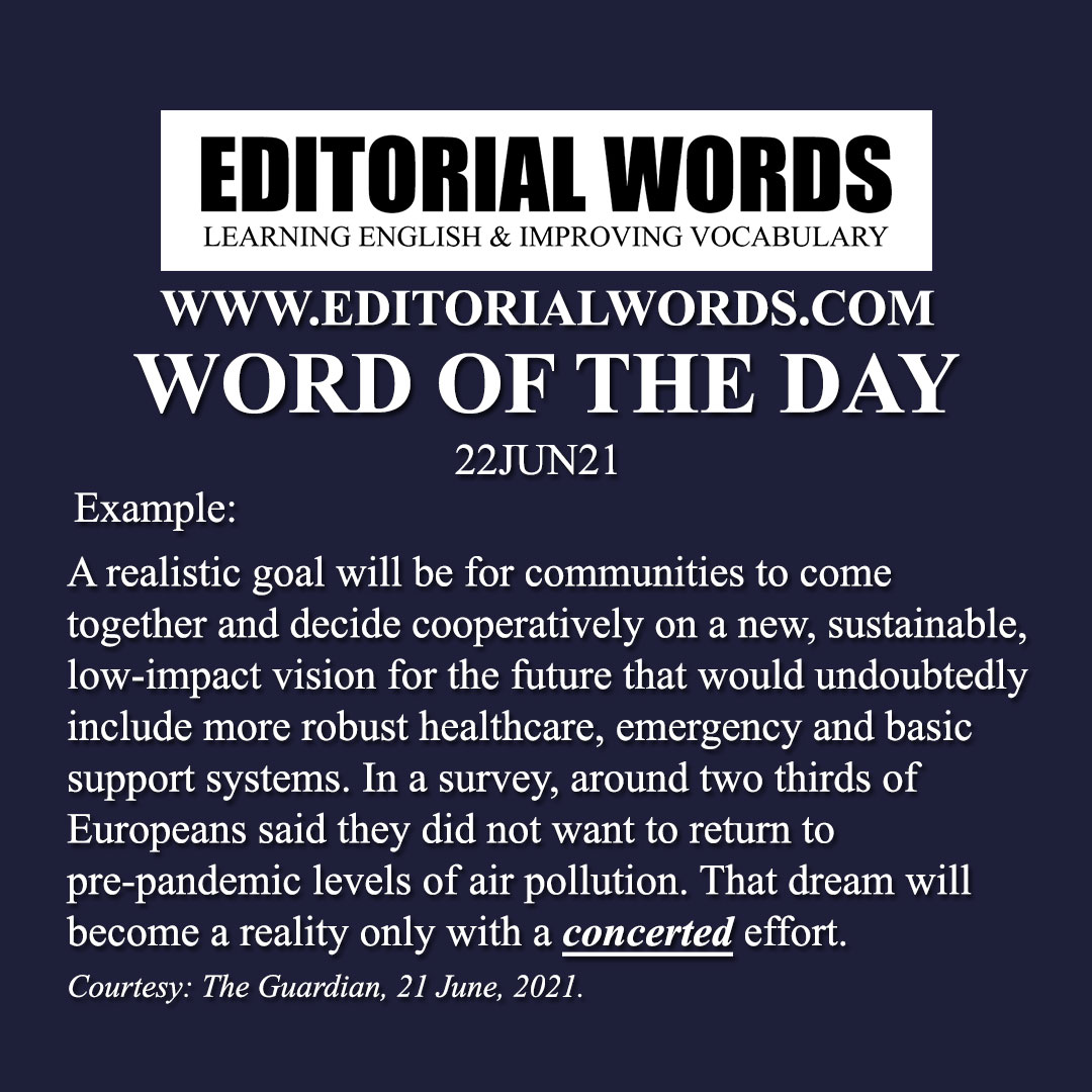 Word of the Day (concerted)-22JUN21