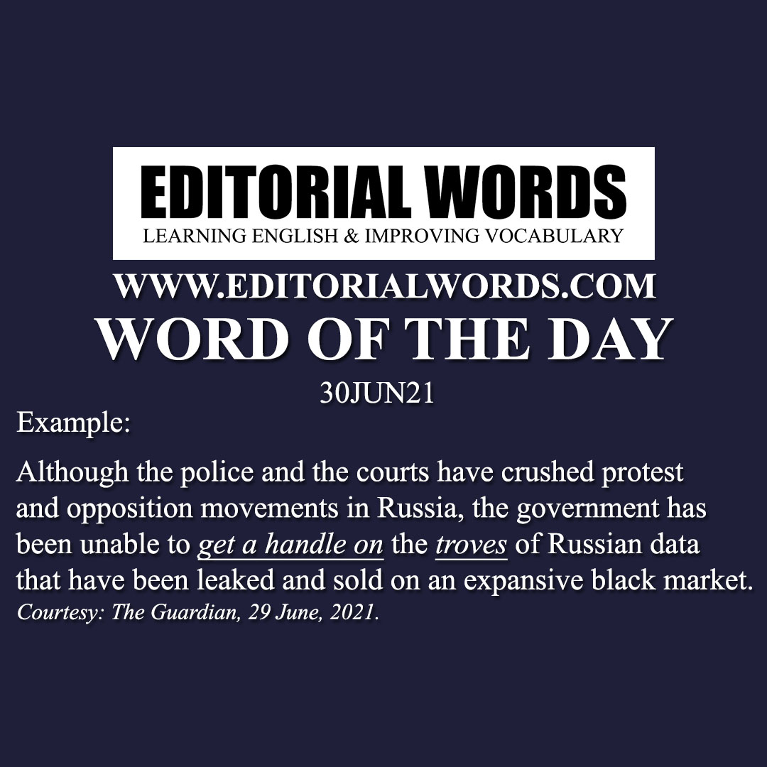 Word of the Day (trove)-30JUN21