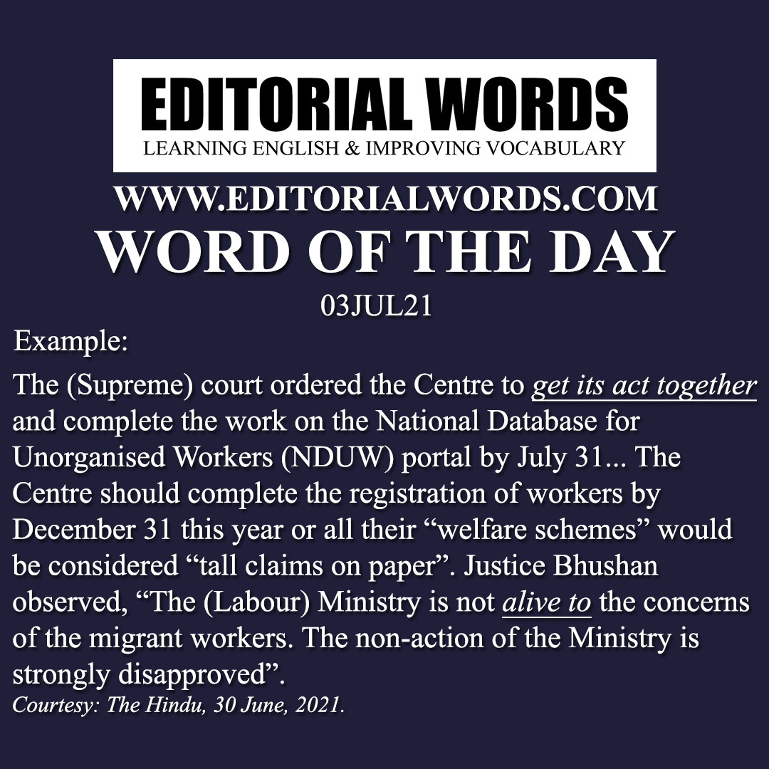 Word of the Day (alive to)-03JUL21