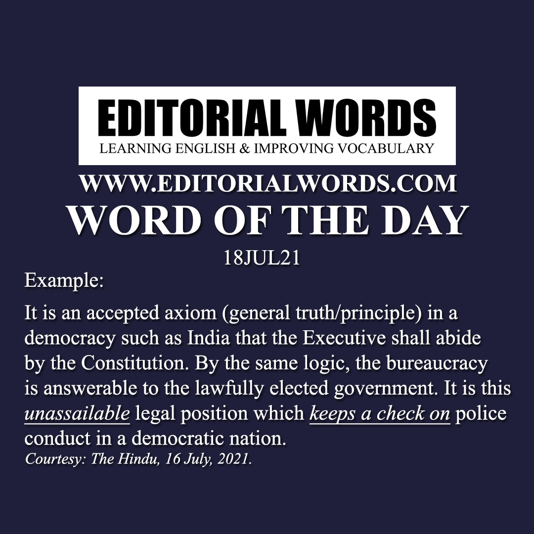 Word of the Day (unassailable)-18JUL21